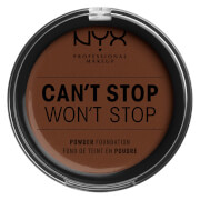 NYX Professional Makeup Can't Stop Won't Stop Powder Foundation (Various Shades) - Deep Walnut