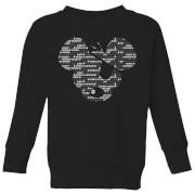 Danger mouse word face kids sweatshirt black 5 6 ans noir