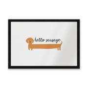 Hello Sausage Entrance Mat