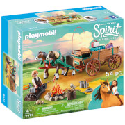Playmobil DreamWorks Spirit Luckys Dad And Wagon (9477)