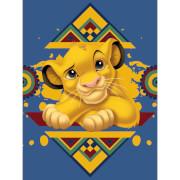 The Lion King (Simba Tribal Pattern) 60 x 80cm Canvas Print