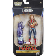Hasbro Marvel Legends Series Captain Marvel-Figur 16 cm als Captain Marvel in Bomberjacke