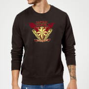 Captain Marvel Protector Of The Skies Sweatshirt - Black - XXL - Negro
