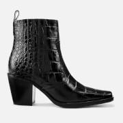 Ganni Women's Western Boots - Black - EU 37/UK 4