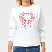 Super Mario Toadally In Love Women's Sweatshirt - White
