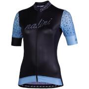 Nalini Stilosa Women's Short Sleeve Jersey - M - Black/Blue