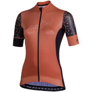 Nalini Stilosa Women's Short Sleeve Jersey - L - Black/Orange