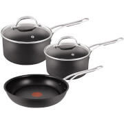 Jamie Oliver by Tefal 3 Piece Saucepans & Frying Pan Set
