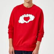 Disney Mickey Heart Hands Sweatshirt - Red