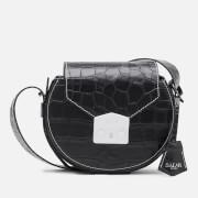 SALAR Women's Annie Croco Cross Body Bag - Black