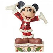 Disney Traditions Tis a Splendid Season (Mickey Mouse Christmas Figurine)