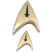 Quantum Mechanix Star Trek: Discovery Enterprise Command Badge and Pin Set