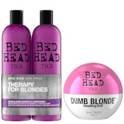 Купить TIGI Bed Head Blonde Hair Shampoo, Conditioner and Styling Cream Set