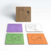 Scooby Doo The Gang Colours Coaster Set