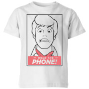 Scooby Doo Hold The Phone Kids' T-Shirt - White - 5-6 años - Blanco