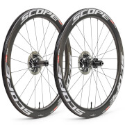 Scope R5 Disc Carbon Clincher Wheelset - Shimano - White Decals