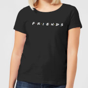 Friends Logo Contrast Women's T-Shirt - Black
