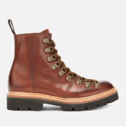 Grenson Women's Nanette Hand Painted Leather Hiking Style Boots - Tan - UK 3 - Tan