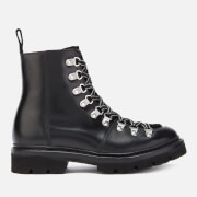Grenson Women's Nanette Leather/Shearling Hiking Style Boots - Black - UK 3 - Black