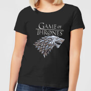 Game of Thrones Metallic House Stark Women's T-Shirt - Black