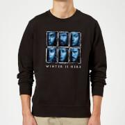 Game of Thrones Winter Is Here Faces Sweatshirt - Black