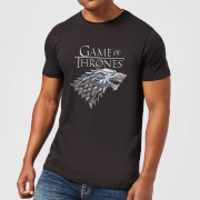 Game of Thrones Metallic House Stark Men's T-Shirt - Black