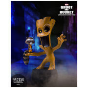 Gentle Giant Marvel Guardians of the Galaxy Marvel Animated Style Groot & Rocket Raccoon Statue - 10cm
