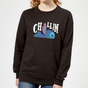 Disney Lilo And Stitch Chillin Women's Sweatshirt - Black
