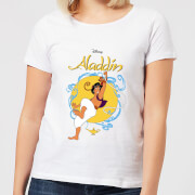 Disney Aladdin Rope Swing Womens T Shirt   White   XS   White
