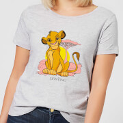 Disney Lion King Simba Pastel Damen T-Shirt - Grau