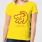 Disney Lion King Cave Drawing Women's T-Shirt - Yellow