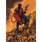 Hellboy Giclee by Sam Mayle - Zavvi Exclusive