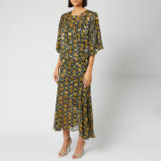 Preen By Thornton Bregazzi Women's Lydia Dress With Slip - Black/Yellow - M - Black