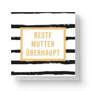 Beste Mutter überhaupt Square Greetings Card (14.8cm x 14.8cm)