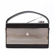 GPO Darcy AM/FM Radio - Black/Silver