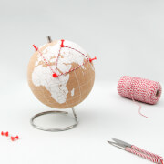 White Cork Globe - Small