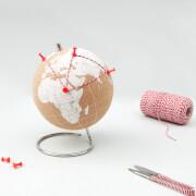Weiße Kork-Globus – Klein