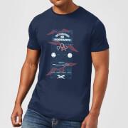 Harry Potter Quidditch At Hogwarts Men's T-Shirt - Navy