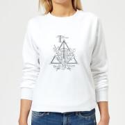 Harry Potter Three Dragons White Women's Sweatshirt - White