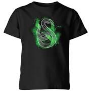 Harry Potter Slytherin Geometric Kids T-Shirt - Black - 3-4 Years - Black