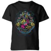 Harry Potter Hogwarts Neon Crest Kids' T-Shirt - Black - 3-4 ans - Noir