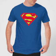 Justice League Supergirl Logo Men's T-Shirt - Royal Blue