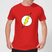 Justice League Flash Logo Men's T-Shirt - Red