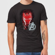 Avengers Endgame Iron Man Brushed Herren T-Shirt - Schwarz