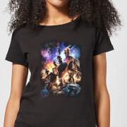Avengers Endgame Character Montage Women's T-Shirt - Black