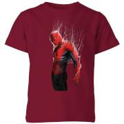 Marvel Spider-man Web Wrap Kids' T-Shirt - Burgundy