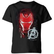 Avengers Endgame Iron Man Brushed Kids' T-Shirt - Black