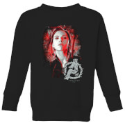 Avengers Endgame Black Widow Brushed Kids' Sweatshirt - Black