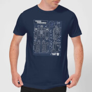 Transformers Optimus Prime Schematic Men's T-Shirt - Navy