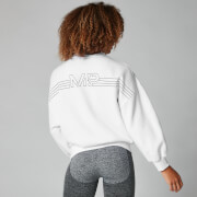 Myprotein Colour Block Oversized Sweater - White